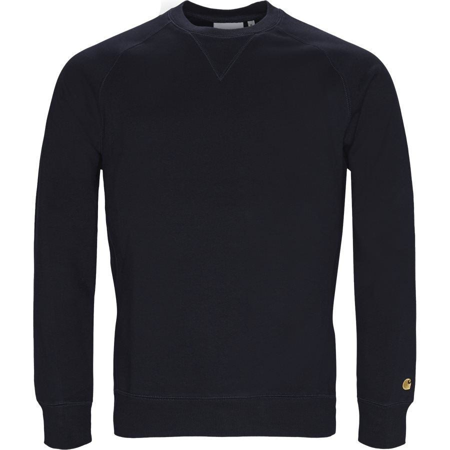CHASE SWEAT. I026383 - Chase Crew Neck Sweatshirt - Sweatshirts - Regular - DARK NAVY/GOLD - 1